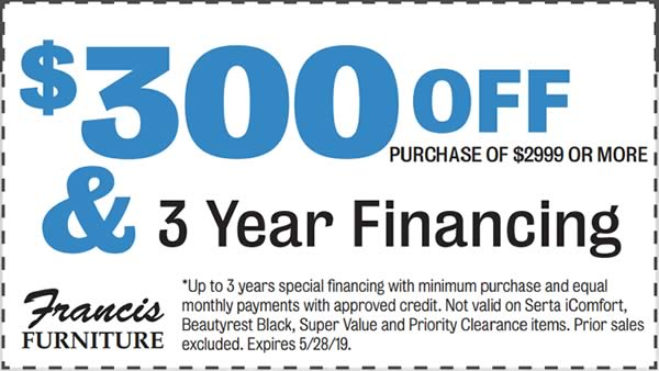 $300 off your purchase of $2999 or more.
