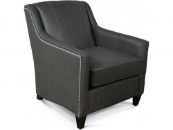 Gibson Leather Chair with Nails
