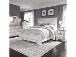 Abbey Park King California Panel Bed, Dresser & Mirror, Chest, Night Stand