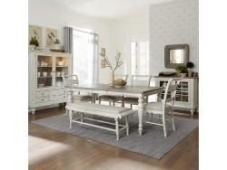 Whitney 6 Piece Rectangular Table Set