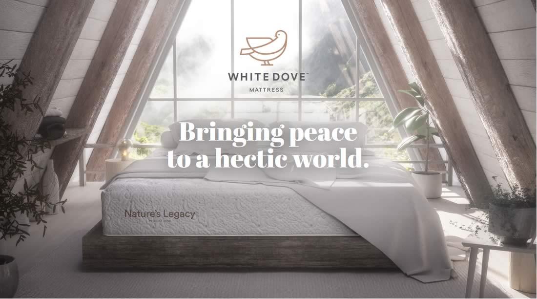 White Dove Mattress Banner