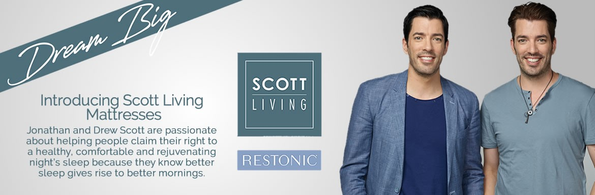 Dream Big on a Scott Living Mattress from Francis Furniture.