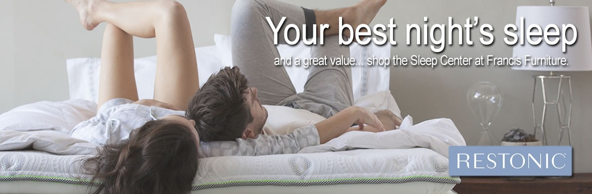 Your best night's sleep and a great value... shop the Mattress Center at Francis Furniture of Van Wert.